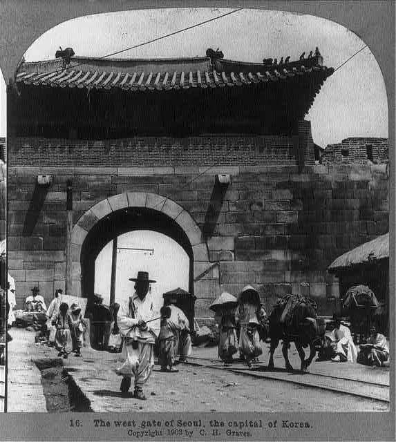 The West Gate Of Seoul The Capital Of Korea 1903